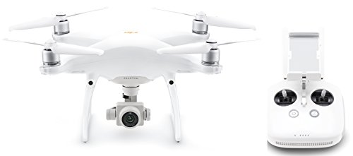 Set enthält: 1x DJI Drohne P4P 4 PRO V2.0 - EU Modell, Video 4K/60fps und Fotos mit Burst-Funktion je 14 Fps, Integrierte Fernbedienung - Weiß