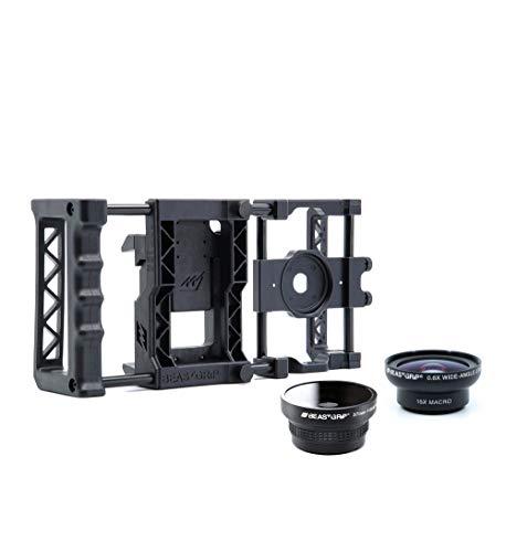 Beastgrip Pro Universal Smartphone Kamera-Rig mit Weitwinkel und Fischauge