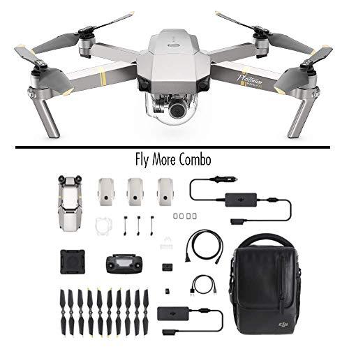 DJI Mavic Pro Platinum Fly More Combo - Drohne mit 4K Full-HD Videokamera inkl. Zubehör I 12 Megapixel Bilderqualität und bis zu 7 km Reichweite