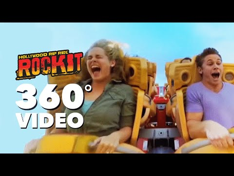 360 VIDEO: Hollywood Rip Ride Rockit | Universal Studios Florida