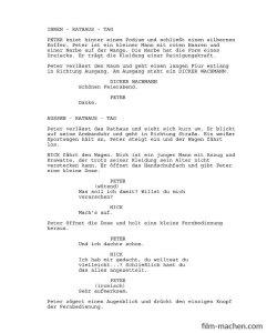 Drehbuch Beispielseite | FilmMachen.de