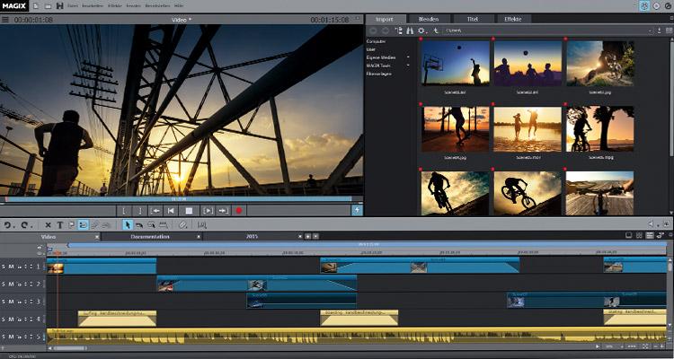 MAGIX Video deluxe 2016 Programmoberflaeche / Bild: MAGIX